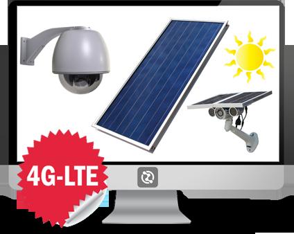 Impianti witecno di videosorveglianza con kit composto da camera e pannello solare.