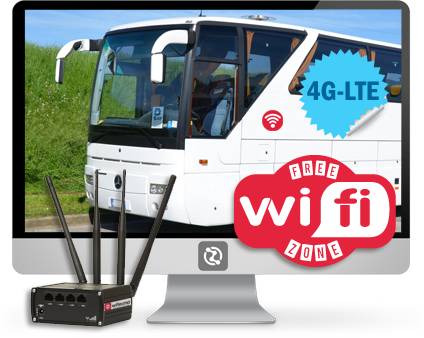 il kit hot spot wifi per Bus turistici e a lunga percorrenza.