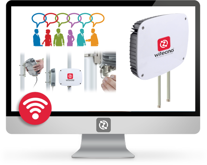 Hot spot wifi Witecno per connessioni ultraveloci in zone ad alta densità.